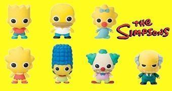 Chaveiros Os Simpsons 3D Monogram Figural Keyrings