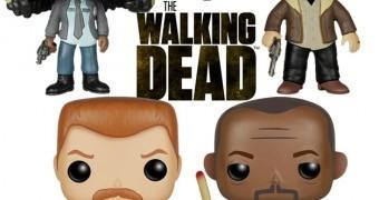 Bonecos The Walking Dead Pop! Rick, Michonne, Abraham e Morgan