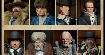 "Action Figures Retro 8"" do Filme Os Oito Odiados (Hateful Eight) de Quentin Tarantino"