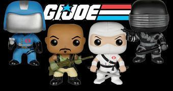 Bonecos Funko Pop! G.I. Joe Série 1: Snake Eyes, Cobra Commander, Stormshadow e Roadblock