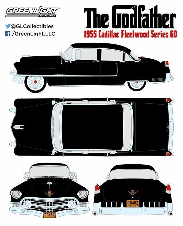 Carrinho-The-Godfather-1955-Cadillac-Fleetwood-Series-60-Die-Cast-Metal-Vehicle-05