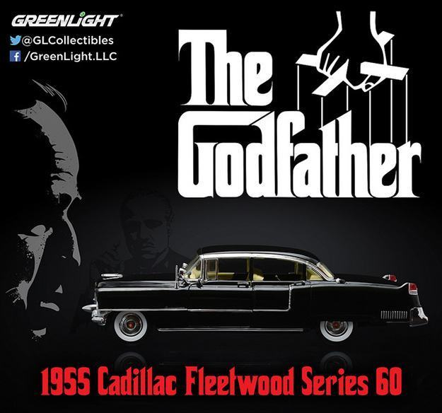 Carrinho-The-Godfather-1955-Cadillac-Fleetwood-Series-60-Die-Cast-Metal-Vehicle-06