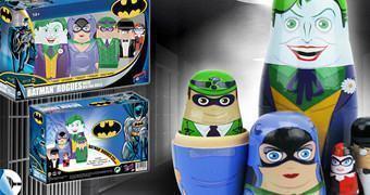 Bonecas Russas Matryoshkas Vilões do Batman