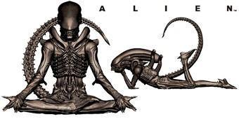Mini-Figuras Kotobukiya Alien Big Chap em Diferentes Poses (Blind-Box)