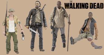 Action Figures The Walking Dead TV Série 8: Rick, Dale, Eugene, Bob e Morgan