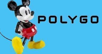 Boneco POLYGO Mickey Mouse em Estilo Poligonal