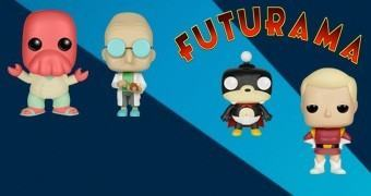 Bonecos Futurama Pop! Série 2: Prof. Farnsworth, Zoidberg, Nibbler e Zapp Brannigan