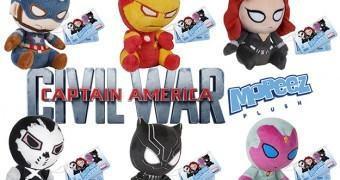 Bonecos de Pelúcia Deprimidos Funko Mopeez Capitão América: Guerra Civil