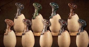 Ovos de Velociraptor em Escala 1:6 (Dinossauros)