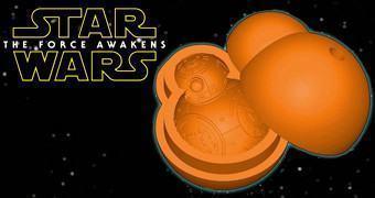 Forma de Silicone Star Wars BB-8 para Gelo ou Bolinho de Chocolate