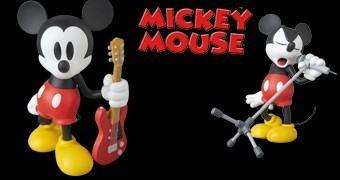 Bonecos de Vinil Mickey Mouse VCD NUMBER (N)INE 2016: Guitarra e Microfone