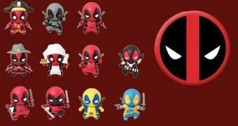 Chaveiros Deadpool 3D Monogram Figural Keyrings