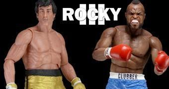 """Action Figures 7"""" Rocky 40 Anos: Rocky Balboa (Sylvester Stallone) e Clubber Lang (Mr. T.)"""