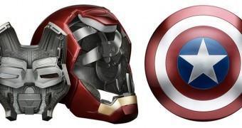 Capacete do Homem de Ferro e Escudo do Capitão América são bem realistas e muito legais