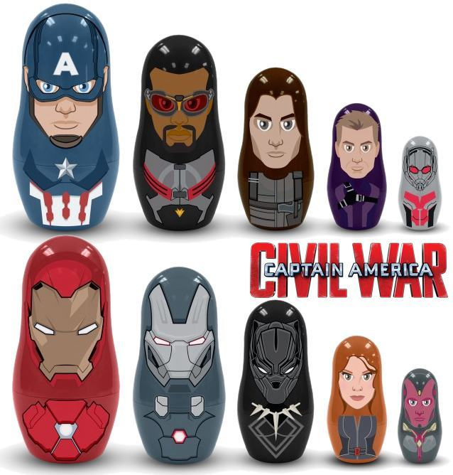 Bonecas-Matryoshkas-Captain-America-Civil-War-Nesting-Dolls-01