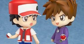 Bonecos Nendoroid Pokémon Trainer Red & Green (20 Anos de Pokemon)