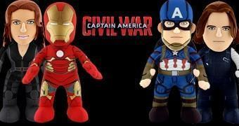 Bonecos de Pelúcia Guerra Civil Marvel: Time Capitão América ou Time Iron Man?