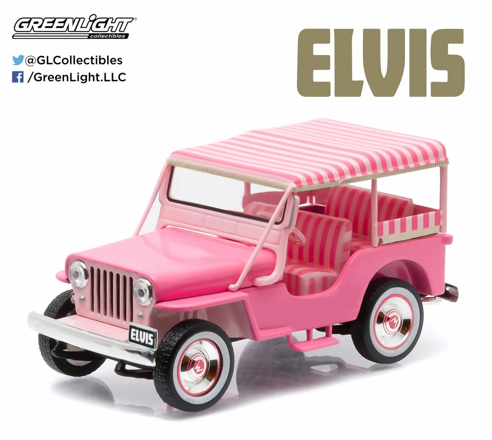 Carro-Elvis-Presley-Pink-Jeep-Surrey-1-43-Die-Cast-Metal-Vehicle-03