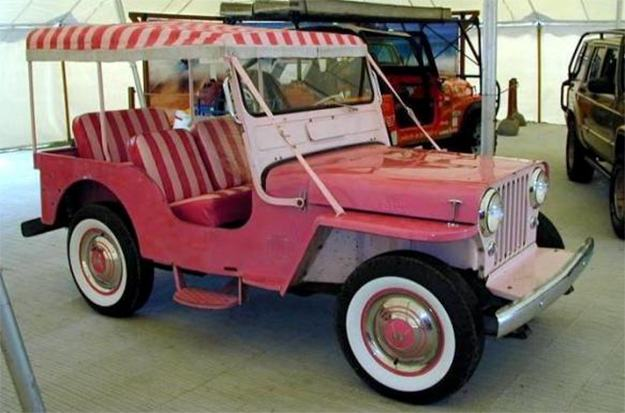 Carro-Elvis-Presley-Pink-Jeep-Surrey-1-43-Die-Cast-Metal-Vehicle-05