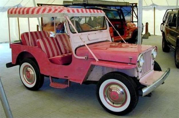 Carro-Elvis-Presley-Pink-Jeep-Surrey-1-43-Die-Cast-Metal-Vehicle-05