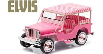 Jeep Rosa de Elvis Presley – Réplica 1:43 da Greenlight Collectibles