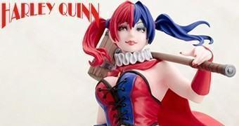 Estátua Harley Quinn New 52 no Estilo Bishoujo (Menina Bonita) da Kotobukiya inspirada em ilustração de Shunya Yamashita