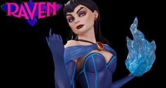 Estátua Raven (Ravena) DC Bombshells em Estilo Pin Up Anos 40