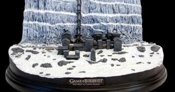 Maquete Game of Thrones: Muralha e Castelo Negro (Castle Black and the Wall) em Escala 1:700