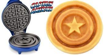 Máquina de Waffles Escudo do Capitão América (Guerra Civil Marvel)