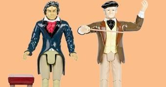 Action Figures Gênios da Música Clássica: Ludwig van Beethoven e Richard Wagner