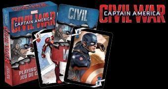 Baralho Capitão América: Guerra Civil