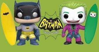 Bonecos Pop! Batman e Coringa Surfistas na Série de TV Batman 1966