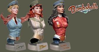 Bustos DC Comics Bombshells: Supergirl, Mera e Mulher Maravilha