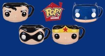 Canecas DC Comics Funko Pop! com Batman, Robin, Superman e Mulher Maravilha