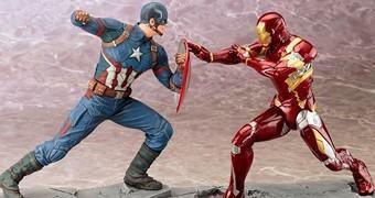 Capitão América vs Homem de Ferro – Estátuas Captain America: Civil War ArtFX+