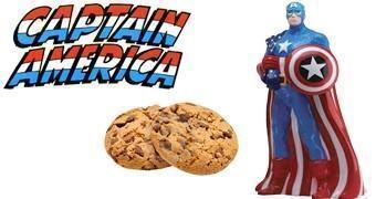 Pote de Cookies Capitão América (Corpo Inteiro)