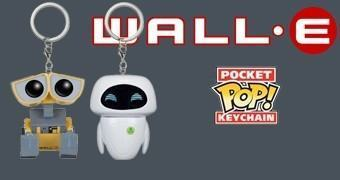 Chaveiros Funko Pocket Pop! WALL-E e EVE (Pixar)