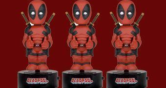 Boneco Deadpool Body Knocker Bobble Head com Energia Solar