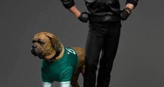 Estátua Perfeita Sylvester Stallone como Rocky no filme Rocky II – A Revanche