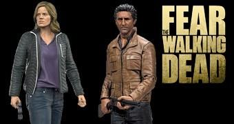 Fear the Walking Dead Action Figures: Madison Clark e Travis Manawa