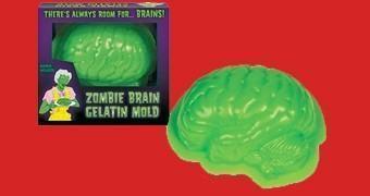 Forma de Gelatina Cérebro e Miolo Zumbi