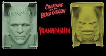 Formas de Gelatina Monstros do Universal Studios: Frankenstein e Criatura da Lagoa Negra