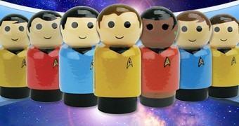 Mini-Bonecos de Madeira Star Trek TOS Pin Mates