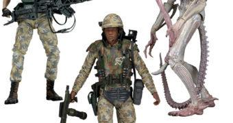 "Action Figures Alien 7"" Série 9: Private Vasquez, Private Frost e Alien Albino (Aliens 30 Anos)"
