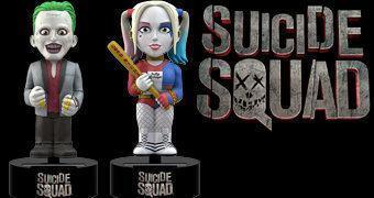 Bonecos Suicide Squad Body Knockers com Energia Solar: Coringa e Harley Quinn (Esquadrão Suicida)