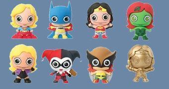 Chaveiros Women of the DC Universe 3D Monogram Figural Keyrings com as Mulheres da DC