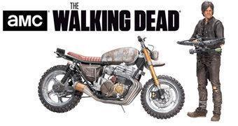 Walking Dead Action Figure Set: Daryl Dixon com Nova Moto da 5º Temporada