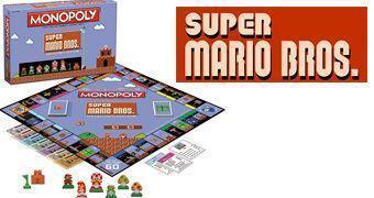 Super Mario Bros. 1985 Monopoly – Jogo de Tabuleiro em Estilo 8-Bit