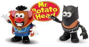 Sr. Cabeça de Batata Pantera Negra e Sr. Cabeça de Batata Dr. Estranho