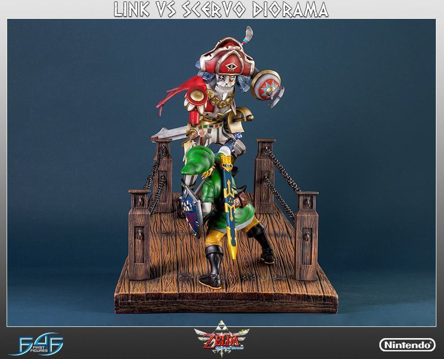 The-Legend-of-Zelda-Skyward-Sword-Link-vs-Scervo-Diorama-06